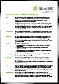 Umwelt-, Gesundheits- und Arbeitssicherheitspolitik 01