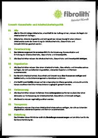 Umwelt-, Gesundheits- und Arbeitssicherheitspolitik 02