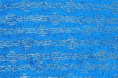 Fibrolith Gestaltungsbeispiele für Holzwolle blaues Muster