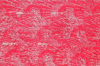 Fibrolith Gestaltungsbeispiele für Holzwolle rotes Muster