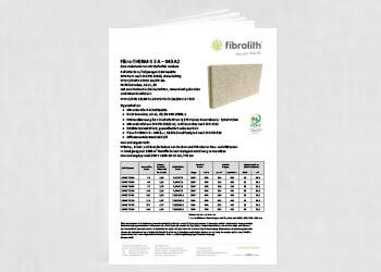Produktdatenblatt Fibro-THERM-S 3 A – 040 A2 Zum Anbetonieren mit Stufenfalz rundum