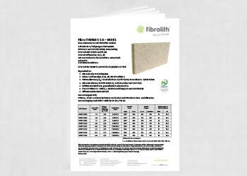 Produktdatenblatt Fibro-THERM-S 3 A – 040 B1 Zum Anbetonieren mit Stufenfalz rundum