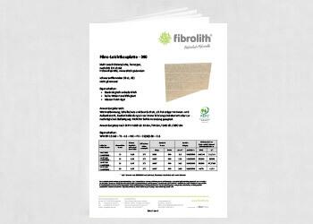 Produktdatenblatt Fibro-Leichtbauplatte - 090