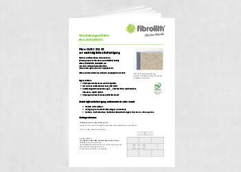 Vearbeitungsrichtlinien Fibro DUR 2 032 B2 zur nachträglichen Befestigung