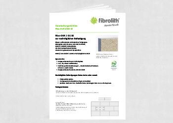 Vearbeitungsrichtlinien Fibro DUR 2 032 SE zur nachträglichen Befestigung
