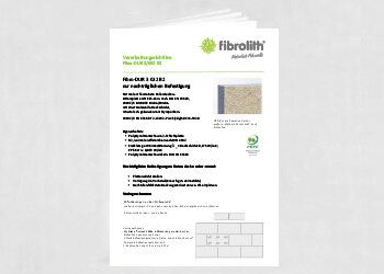 Vearbeitungsrichtlinien Fibro DUR 3 032 B2 zur nachträglichen Befestigung