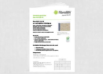 Vearbeitungsrichtlinien Fibro DUR 3 032 SE zur nachträglichen Befestigung