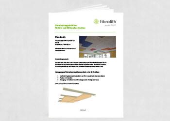 Vearbeitungsrichtlinien Fibro-Kustik für Holz- und CD-Unterkonstruktion