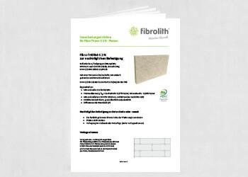 Vearbeitungsrichtlinien Fibro-THERM-S 2 N zur nachträglichen Befestigung