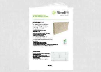 Vearbeitungsrichtlinien Fibro-THERM-S 3 A anbetoniert