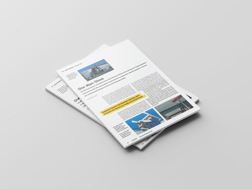 Objektbericht Deckensegel in einer Mitarbeiterkantine bei der Hänssler Hydraulik GmbH in Bauhandwerk 8/15