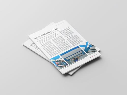 Objektbericht Deckensegel in einer Mitarbeiterkantine bei der Hänssler Hydraulik GmbH in Baustoffpraxis 8/15