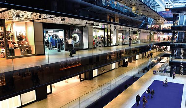 Fibrolith Akustikplatten in Shops und Verkaufsflächen