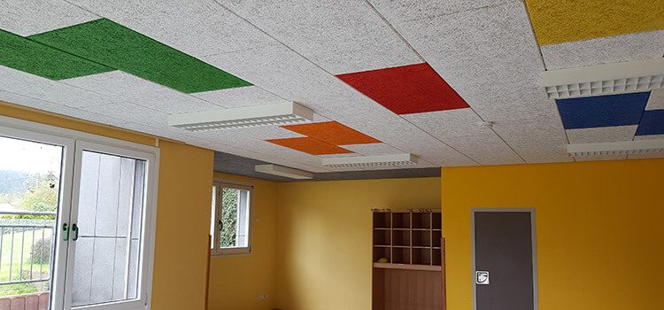 Practical example – Ceiling refurbishment of a child-care center